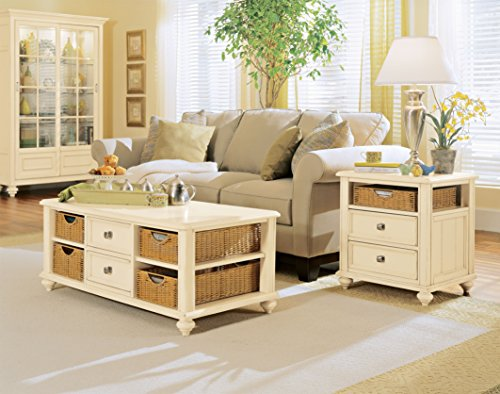American Drew Camden-Light 2 Piece Coffee & End Table Set in White Painted