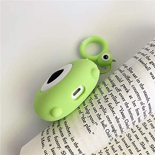 Designed for Kids Girl and Boys with Cute Cartoon Cable Bites Mike ZAHIUS Silicone Case Compatible for Apple Airpods 1/&2 Funny Cover