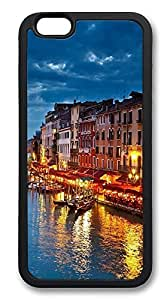iPhone 6 Plus Cases, Water City Of Venice Italy Durable Soft Slim TPU Case Cover for iPhone 6 Plus 5.5 inch Screen (Does NOT fit iPhone 5 5S 5C 4 4s or iPhone 6 4.7 inch screen) - TPU Black