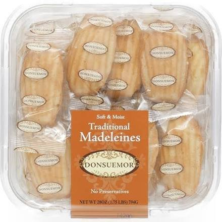 Donsuemor Traditional Madeleines - 28 Individually Wrapped - 28 Oz Total by Donsuemor