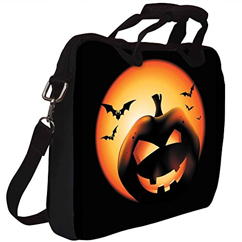 Snoogg Halloween Pumpkin Gedruckt Notebook-Tasche mit Schultergurt 15 bis 15,6 Zoll