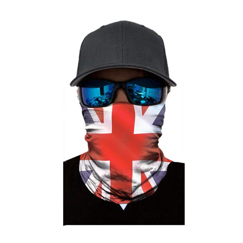 Neck Headwear Face Sun Mask Magic Scarf Bandana Headband Cycling Motorcycling Skateboarding Moisture Wicking UV Protection