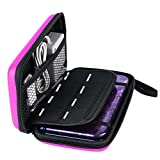 AKWOX Nintendo New 3DS XL Case, Carrying Case for New 3DS XL,3DS XL, Hard Travel Protective Shell for Nintendo Console& Game (Pink)