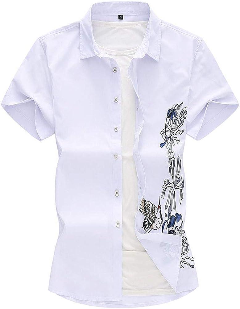 Fansu 3D Camisa Hawaiana para Hombre, Tropical de Manga Corta Impreso Casual Enrrollada Camisas Playa M-7XL: Amazon.es: Ropa y accesorios