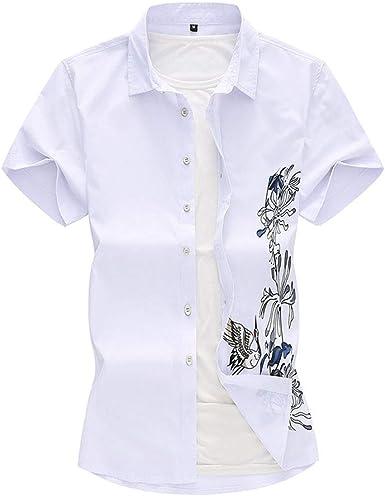Fansu 3D Camisa Hawaiana para Hombre, Tropical de Manga Corta ...