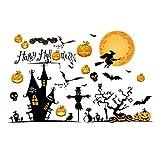 Akabsh Halloween Holiday Decals, Halloween Wall Stickers Horror Door Stickers Window Horror Stickers