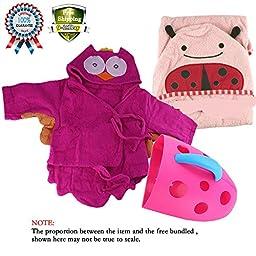 Baby Organizer Storage Bin Net Super Scoop Tub Kids Towels Bathrobe Towels Hooded