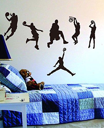 Easma Basketball Wall Decal Vinyl Art Sport Sticker for Nursery Home Wall (Sports Vinyl)