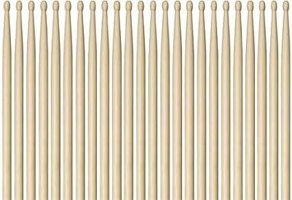 Vic Firth Drumsticks N5AW Nova 5A Drum Stick Brick 12 Pair Wood Tip
