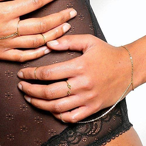 Customized 14k Real Gold Slave Bracelet for women Custom Sizes 14k Solid Gold Chain
