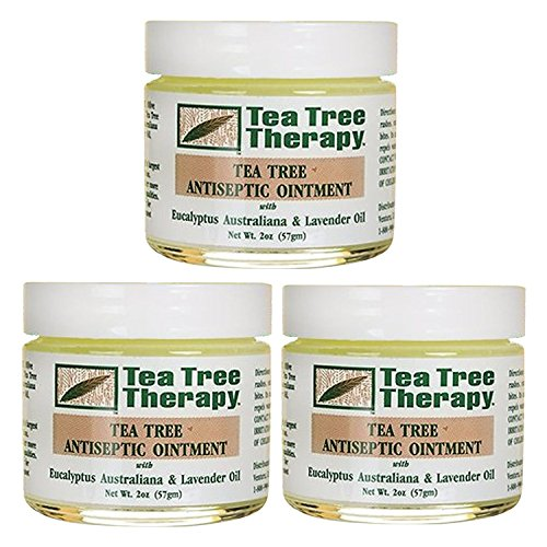 Tea Tree Therapy Tea Tree Antiseptic Ointment, 2 Ounce (Pack of 3) (Hot Water On Poison Ivy Good Or Bad)