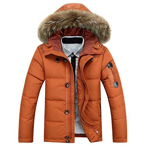 GYXYYF Daunenjacke Herren 90% Entendaunen Warme Winterjacke Herren -30 Grad Schnee Oberbekleidung Herren Kapuzen Winddichte Oberbekleidung Daunenmäntel
