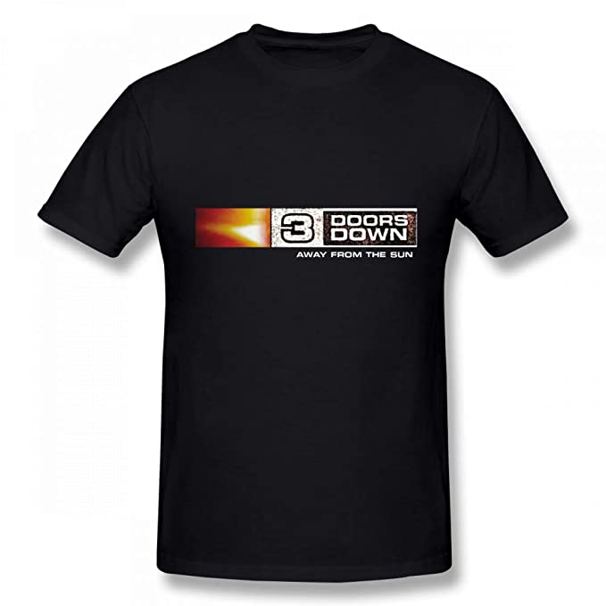 c8dd2234c034 Amazon.com  3 Doors Down Away from The Sun Cotton Youth Men Cool Short  Sleeves T Shirt Tee Shirt Black  Clothing