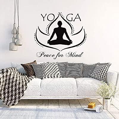 woyaofal Pegatinas de Pared de Vinilo Yoga Paz para la Mente ...