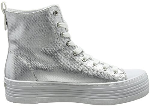 Collo Klein a Zazah Argento Alto 000 Canvas Svw Sneaker Metal Flocking Calvin Donna HgAYY