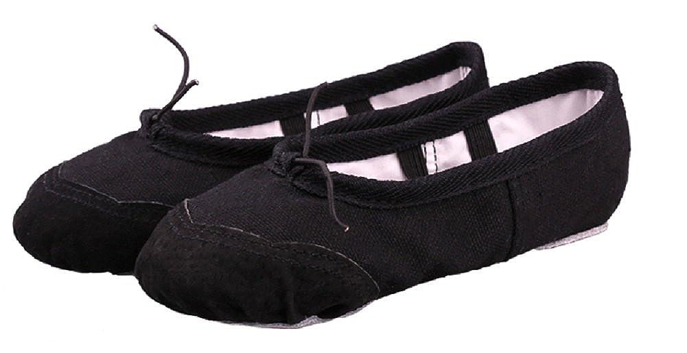 Kamabags Little Girls Canvas Dance Bunnyhop Ballet Slipper Toddler Ballet Shoes