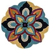 Loloi AZALAZ-04BBML300R Azalea Rug, Blue/Multicolor, 3-Feet Round