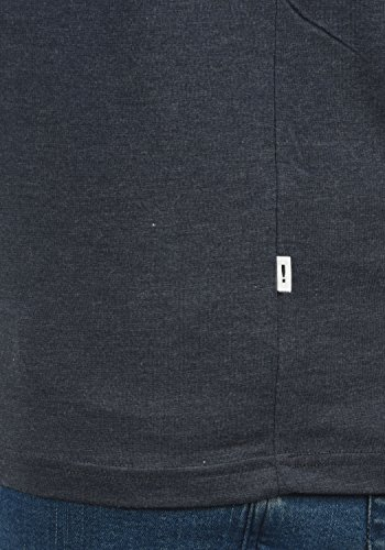 Con Cuello Básica Para Redondo Blue Bastien Longsleeve De Manga g8991 Grey Camiseta solid Hombre Larga Melange z0EwE