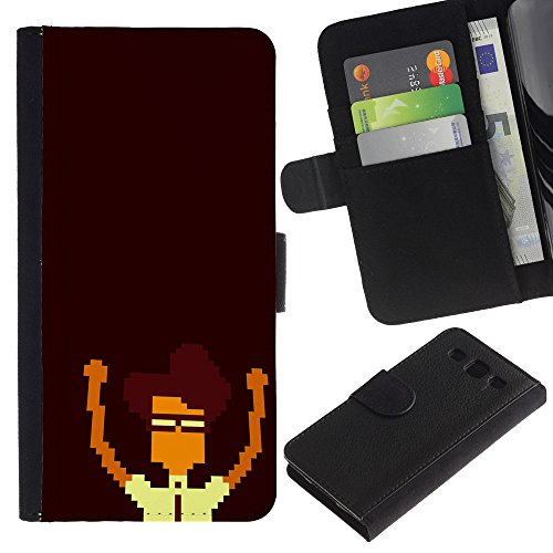 Price comparison product image Funny Phone Case / / Leather Wallet Protective Case with Slots for Money & Cards fit Samsung Galaxy S3 III I9300 / Pixel Nerd