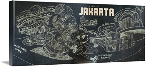 Wall Art Print entitled Jakarta, Indonesia By Anang Fajar Alam by They Draw & Cook & Travel | 48 x 18 by Imagekind