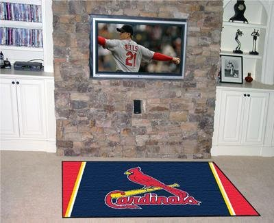 Louis Mlb Cardinals Carpet (Fanmats MLB - St Louis Cardinals 5 x 8 Rug)