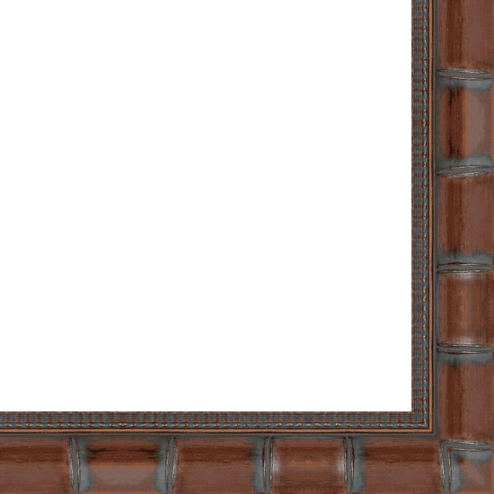 8x10 Wide Brown 'Bamboo' Solid Wood Frame - Great for Posters, Photos, Art Prints, Mirror, Chalk Boards, Cork Boards and Marker Boards