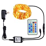 #6: HaMi Outdoor Led String Lights,Waterproof 66ft/20m 200LEDs Flexible Copper Wire Light,Dimmable Firefly Lights with UL Certified for Wedding,Party [12-Month Warranty] - Warm White