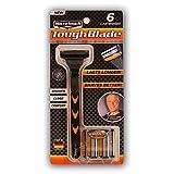 #4: MicroTouch TOUGH BLADE, Triple-Blade Razor (6 Cartridges)