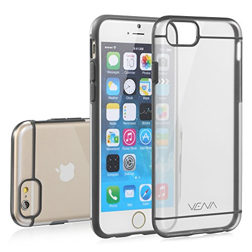 iPhone 6s Case - VENA [RADIANT] Slim Clear Hybrid Bumper Case for Apple iPhone 6 (2014) / iPhone 6s (2015) - Transparent/Gray