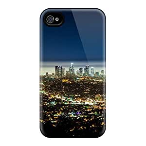 New Premium GjrlcaN6008jBYPJ Case Cover For Iphone 4/4s/ Fantastic View Of Los Angeles At Night Protective Case Cover