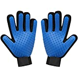 Pet Grooming Glove Brush Mitt, Pet Hair Remover for Massage Petting Bathing, Gentle Deshedding Brush Gloves Tool for Dogs Cats Horses, 1 Pair
