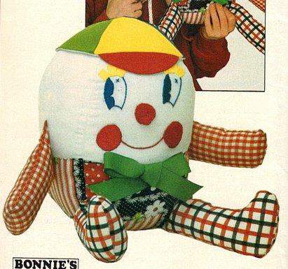 Amazon.com: Butterick 4424 or 237 Stuffed Humpty Dumpty Sewing ...