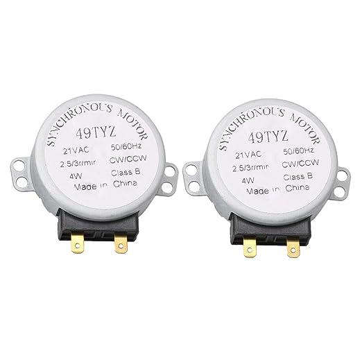 2 piezas AC21V 2.5/6RPM repuesto de motor de tocadiscos para horno ...