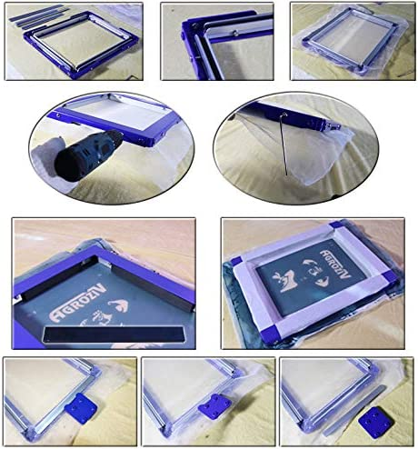 TECHTONGDA 16x20 Inch Screen Frame Mesh Silk Screen Printing Mesh Stretching Frame Glue Free Stretch Screen Frame