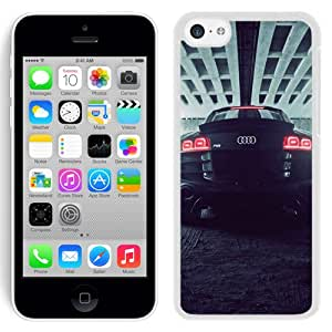 Fashion Custom Designed Cover Case For iPhone 5C Phone Case With Audi R8 Back_White Phone Case