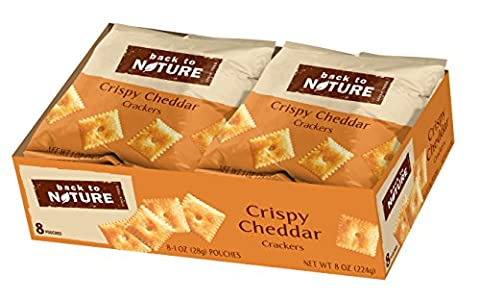 Back to Nature Crackers, Crispy Cheddar, 1 Ounce, 8 Count