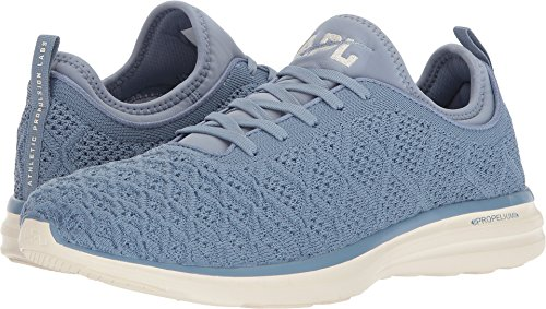 Apl: Athletic Propulsion Labs Para Hombre Techloom Phantom Running Sneakers Gray Denim / Pristine