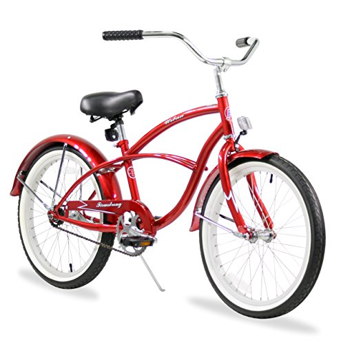 - Firmstrong Urban Boy Single Speed Beach Cruiser Bicycle, 20-Inch, Red