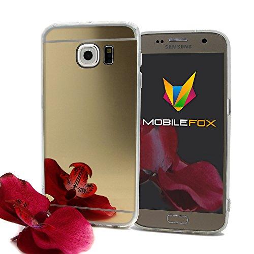 Mobilefox Schneewittchen Schutzhülle Spiegel TPU Case Samsung Galaxy S6 Gold