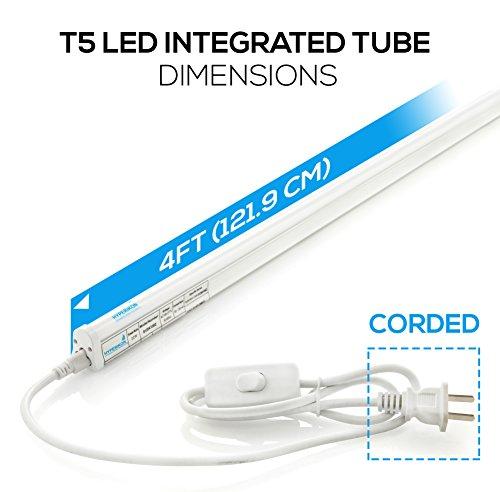 T5 Shop Lights Cost: Hyperikon LED T5 Integrated Single Fixture, 4FT, 22W