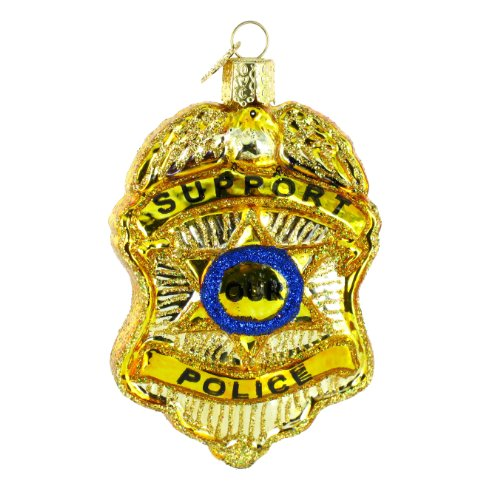 Old World Christmas Police Badge Ornament