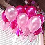 72 Pcs/Lot 12'' Pearlized Latex Balloons Thickening Pink & White&Red Rose balloons 2.8G For Party Decoration