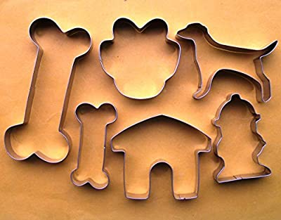 LAWMAN Dog bone paw house hydrant fondant pastry baking cookie cutter set