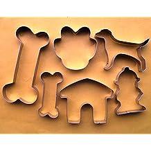 Dog bone house paw hydrant fondant pastry baking cookie cutter 6pcs set