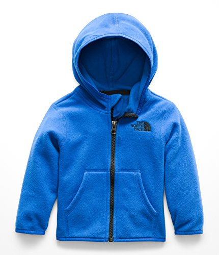 The North Face Infant Glacier Full Zip Hoodie - Turkish Sea & TNF Black - (Toddler Full Zip Jacket)