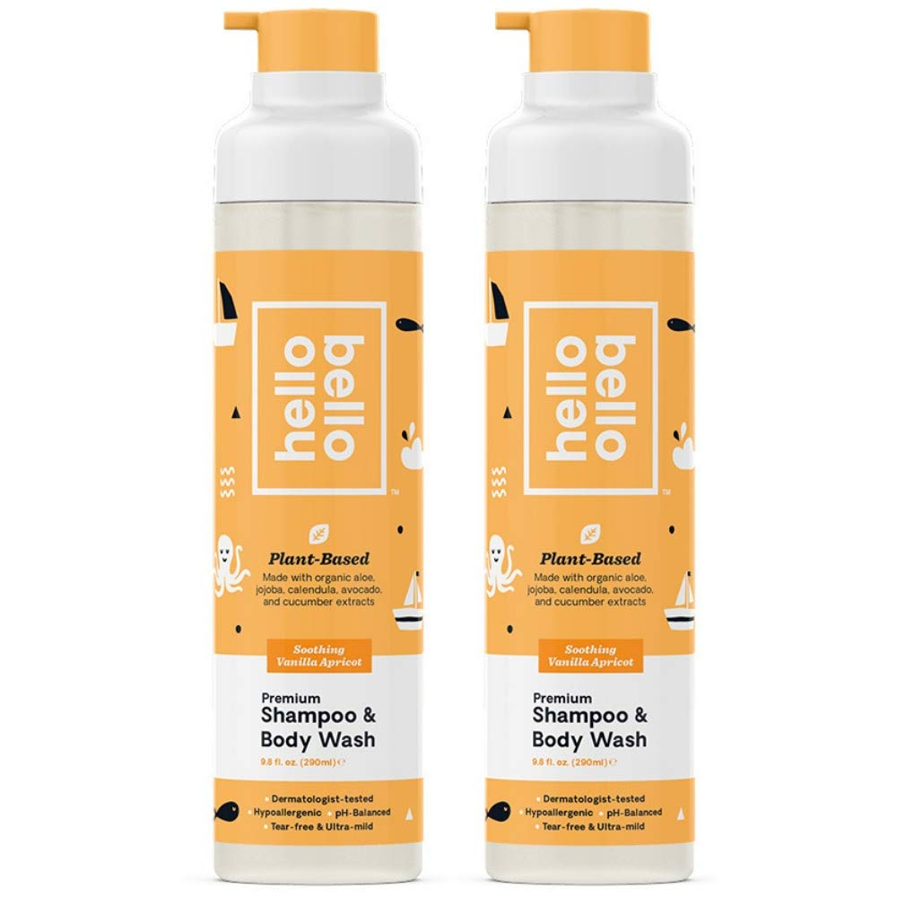 Hello Bello Shampoo/Wash (Vanilla Apricot, 2 pack) by