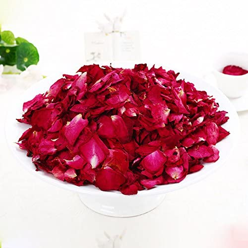 100g Natural Dried Rose Petals Real Flower Dry Red Petal for Foot