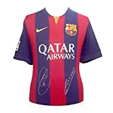 Xavi Hernandez And Andres Iniesta Signed 2014-15 Barcelona Soccer Jersey