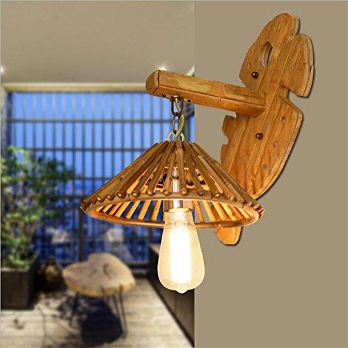 Décoration de la maison Lh&Fh Asie du Sud-Est Antique Wall Lamp Creative Bamboo Farm Restaurant Simple Style Bamboo Light