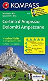 Cortina d'Ampezzo /Dolomiti Ampezzane: Wanderkarte mit KOMPASS-Lexikon dt./ital. und Radrouten. GPS-genau. 1:25000 (KOMPASS-Wanderkarten, Band 617)